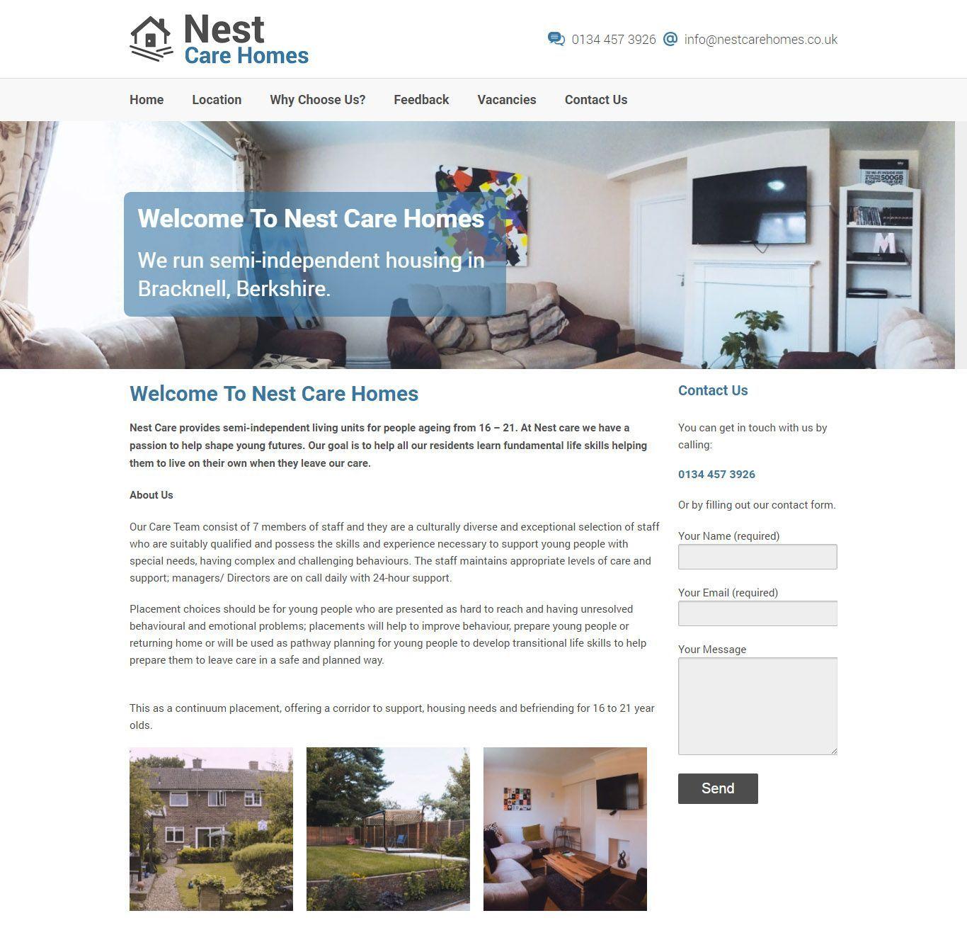 nest-care-home-website-design