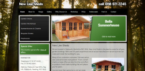 New Line Sheds Web Design - Portfolio