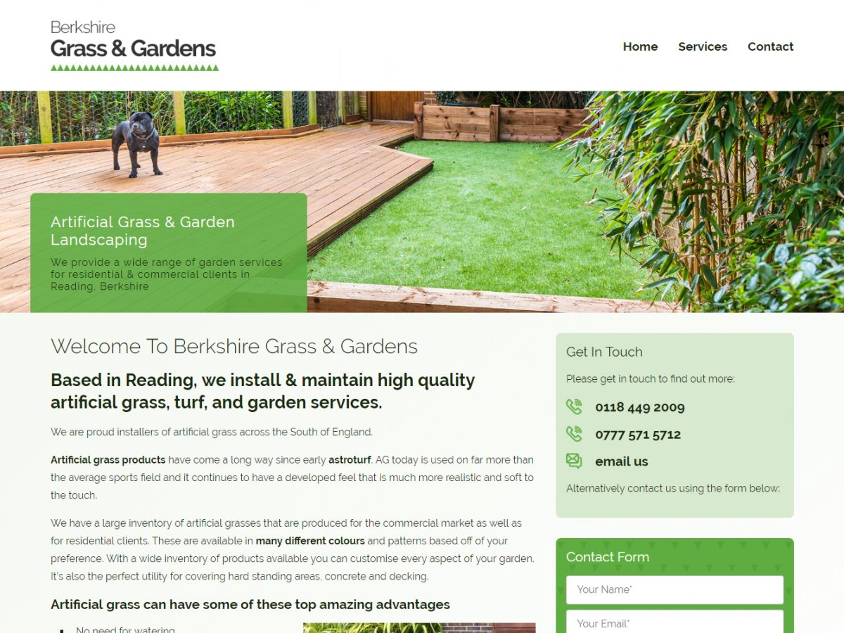 berkshire grass logo branding web design 02
