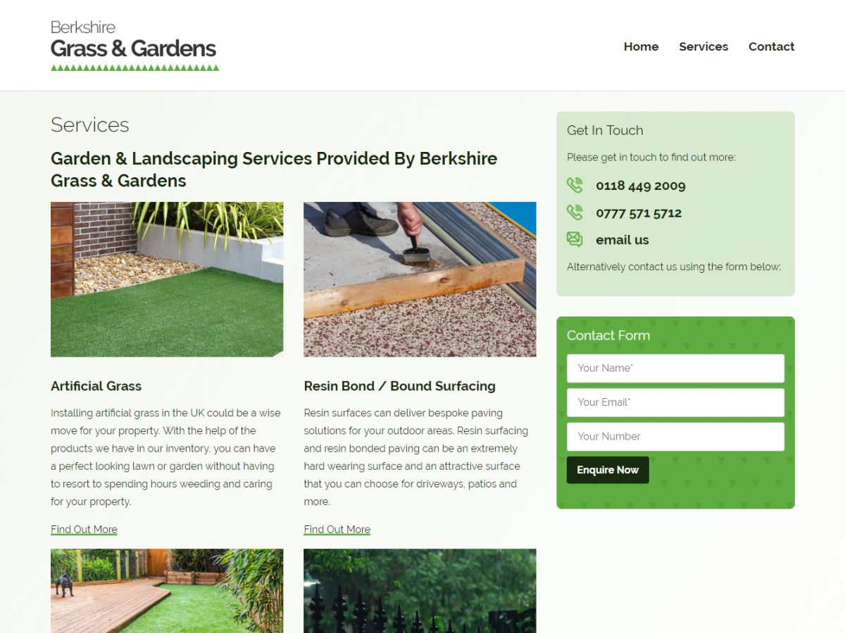 berkshire grass logo branding web design 03
