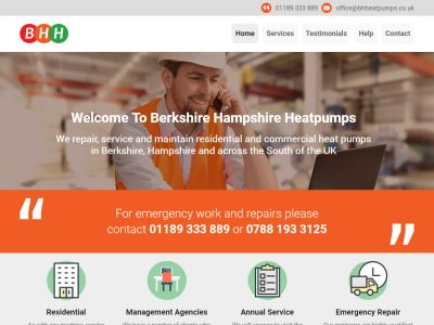 berkshire heatpumps web design