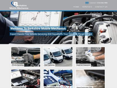 berkshire web design mobile mechanics desktop