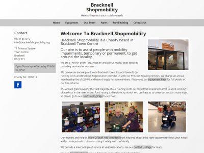 berkshire web design portfolio bracknell shopmobility