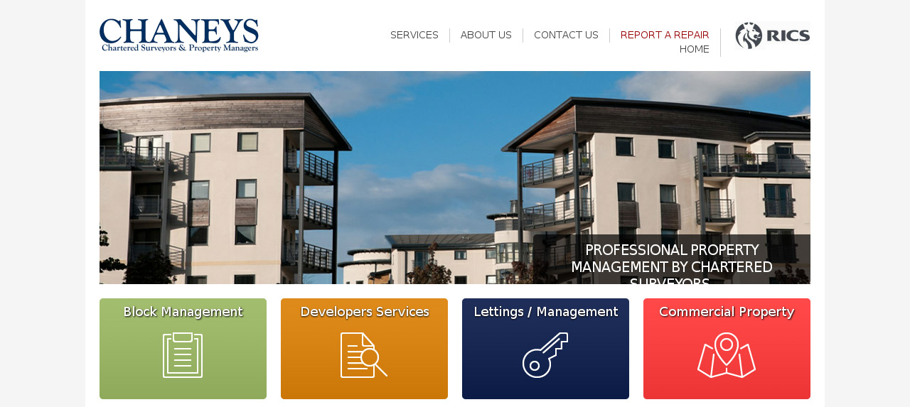chaneys-estate-agent-website-design