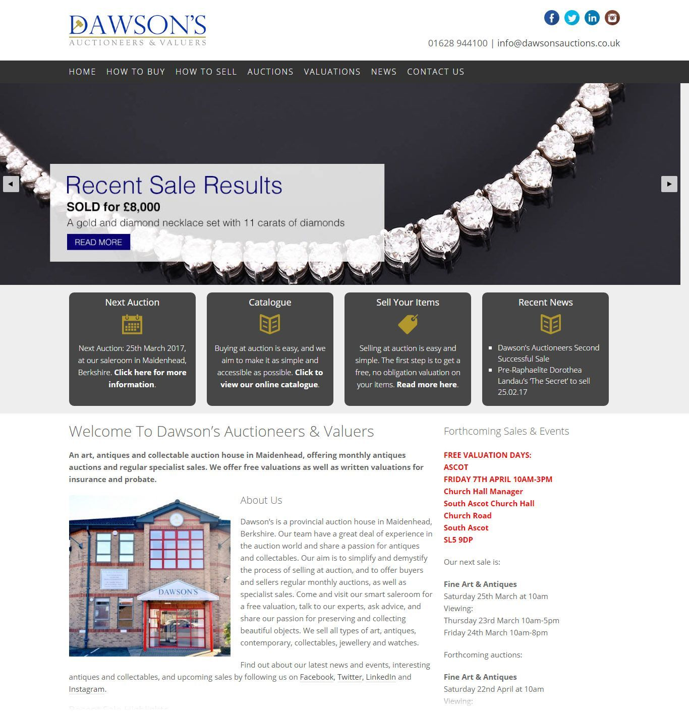 dawsons-auctions-website-design