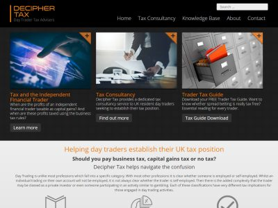 decipher tax seo web design