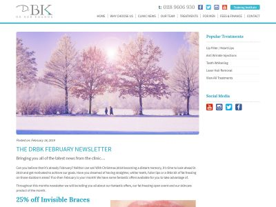 drbk web design blog page