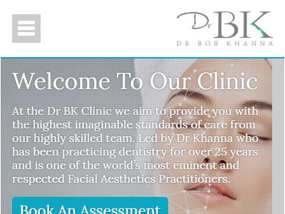 drbk website design mobile home page
