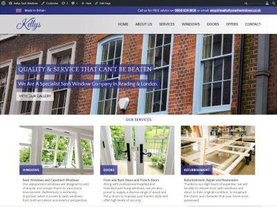 kellys windows reading berkshire web design portfolio