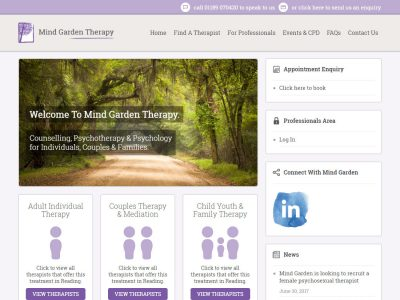 mind garden reading web design