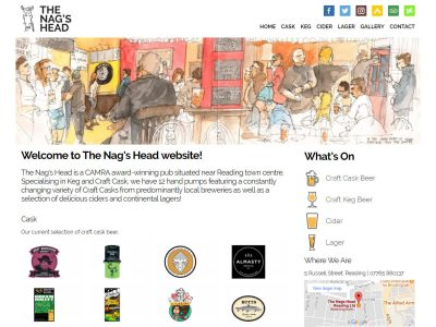nags head reading website design