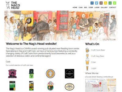 nags head reading website design
