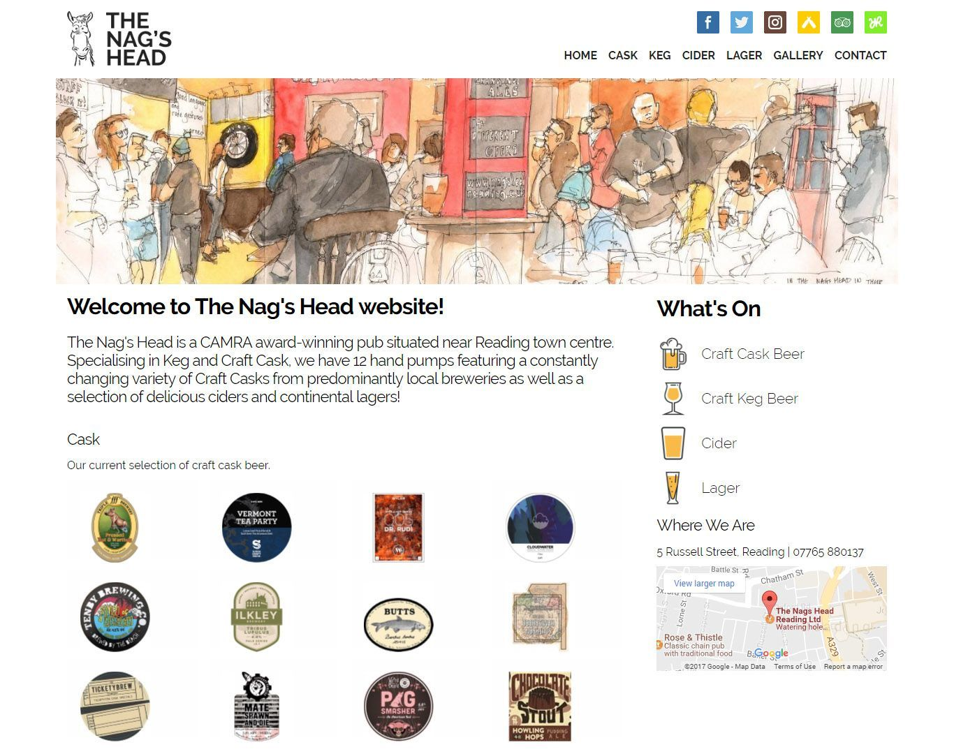 nagshead-reading-pub-website-design