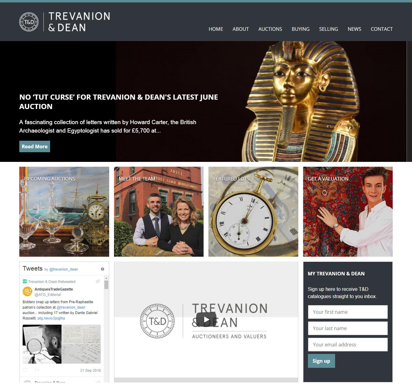 new ecommerce website home page web design portfolio