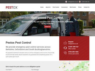 pestox web design desktop 1