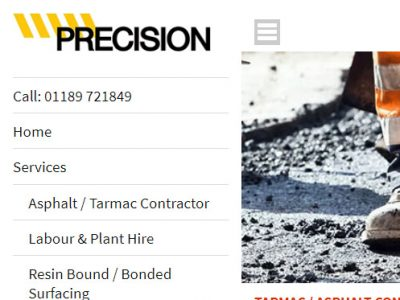 precision civils berkshire web design seo 3