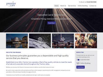 premier cars reading website design portfolio 1