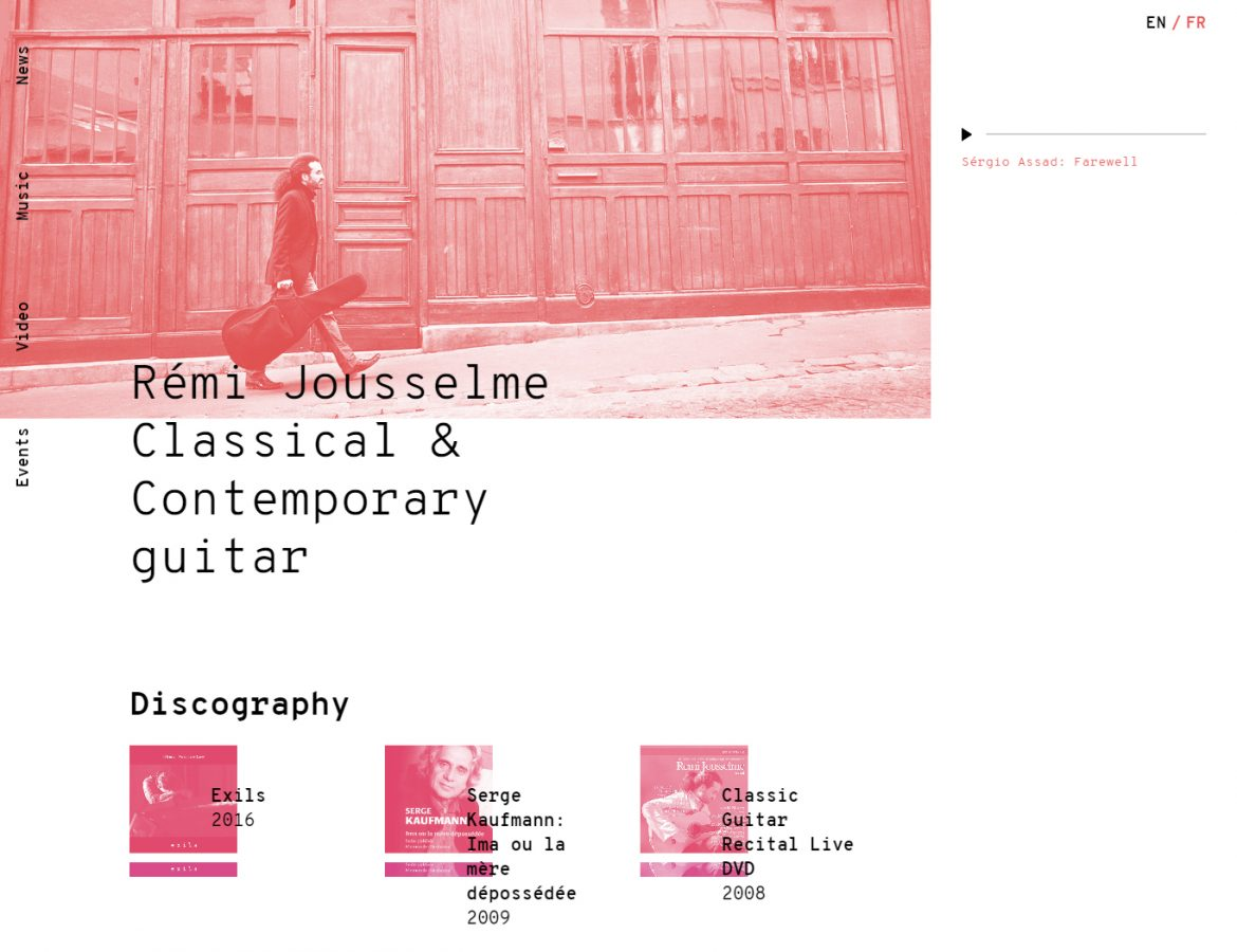 remi jousselme website layout example