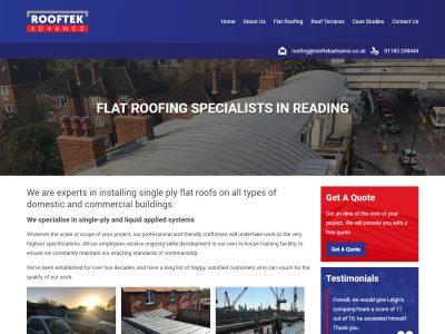 rooftek responsive website desktop 1