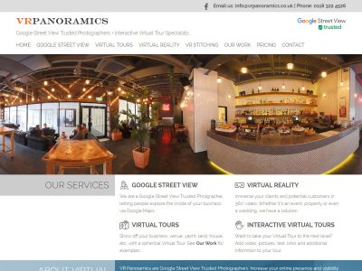 vrpanoramics web design seo reading