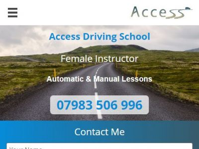web design for access driving school in reading berkshire(1)
