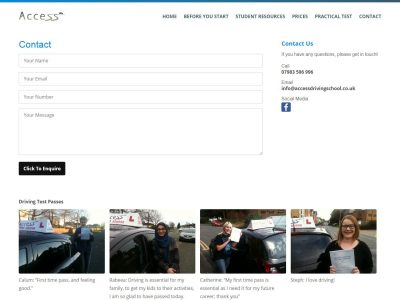 web design for access driving school in reading berkshire(3)