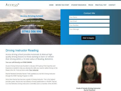 web design for access driving school in reading berkshire(5)
