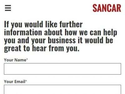 web design for sancar consultancyl in reading berkshire