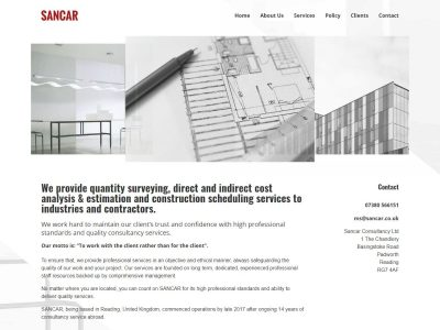 web design for sancar consultancyl in reading berkshire(1)