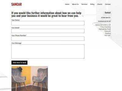 web design for sancar consultancyl in reading berkshire(5)