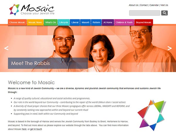 choose mosaic website design